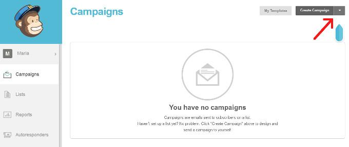 mailchimp crear campaña