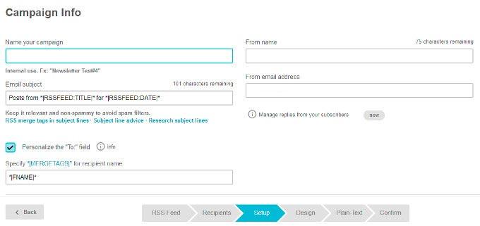 datos campaña mailchimp