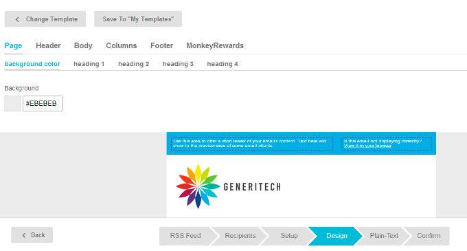 Personalización plantilla en Mailchimp